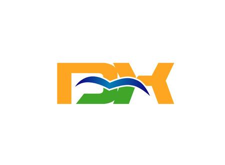 linked: DX linked letter vector Illustration