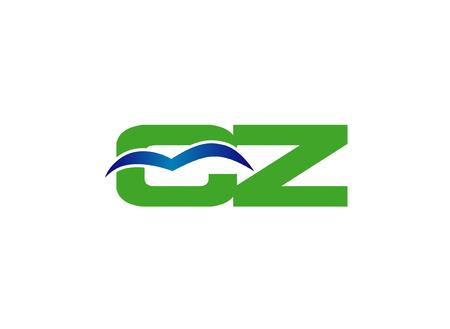 cz: cz letter vector