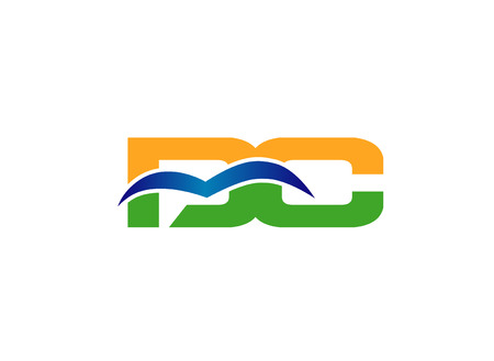 dc: Elegant alphabet D and C, dc letter