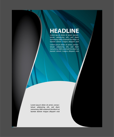 book spreads: Vector business brochure, flyer, magazine cover