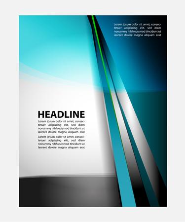 advertising column: Advertising Design Template - Suitable for brochure or website design Illustration