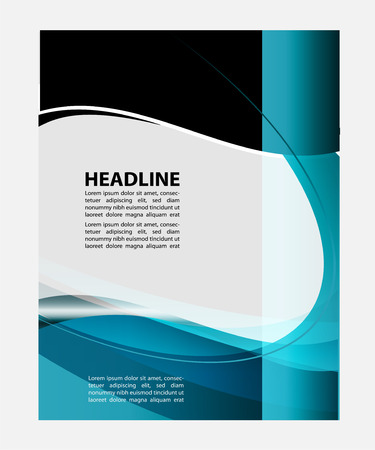magazine template: flyer and magazine cover template
