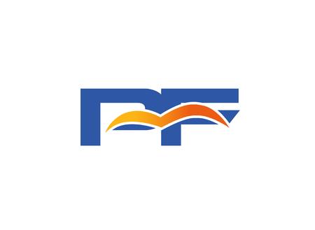 pf: Logo PF. Vector Graphic Element Letter Branding
