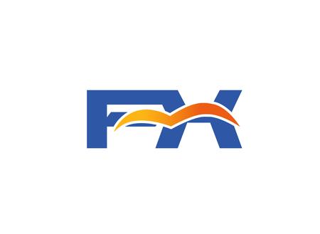 initial: FX initial company logo Illustration