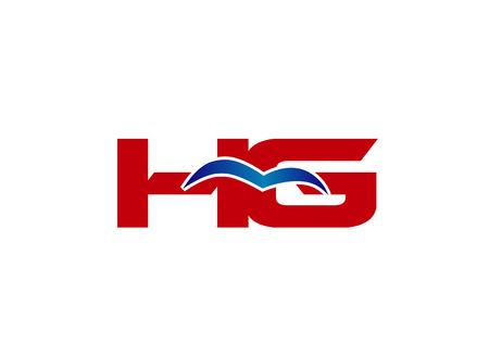 HG Logo. Vector Graphic Element Letter Branding Logó