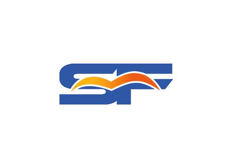 sf: SF Logo. Vector Graphic Element Letter Branding