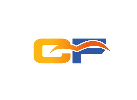 CF Logo. Vector Graphic Element Letter Branding