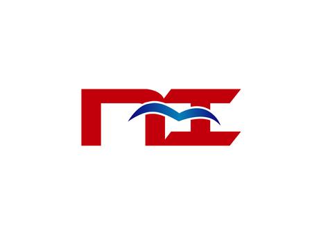 NI company logo linked Letter Illusztráció