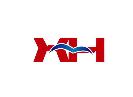 X and H logo vector