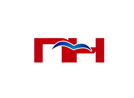 energy market: N and H logo vector