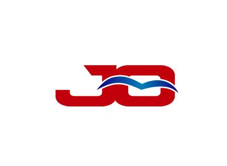 JO Logo. Vector Graphic Element Letter Branding Illustration