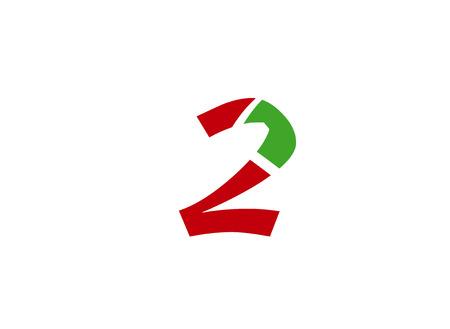 excrement: Vector logo sign number 2 Illustration