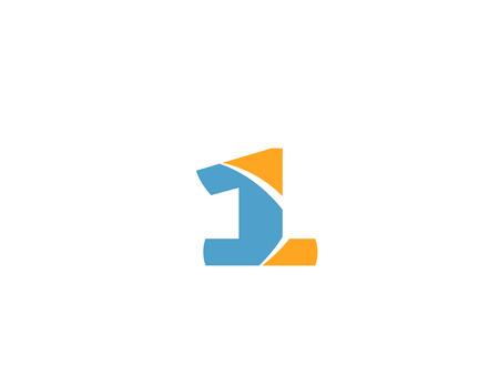 Number 1 logo. Vector logotype design