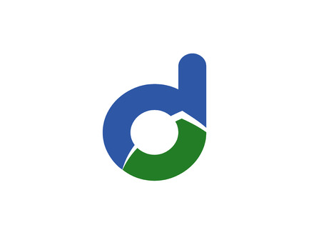 d mark: Abstract Letter D design icon
