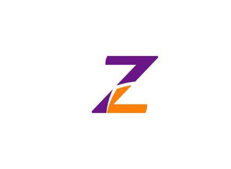 Letter z icon design template elements. Vector color sign
