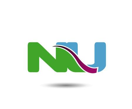 ic: NU letter negative space Illustration