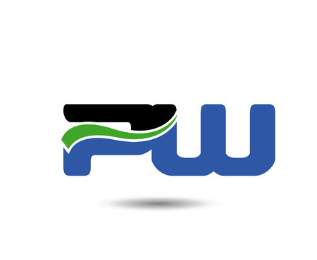 construction firm: Linked company  icon letter PW