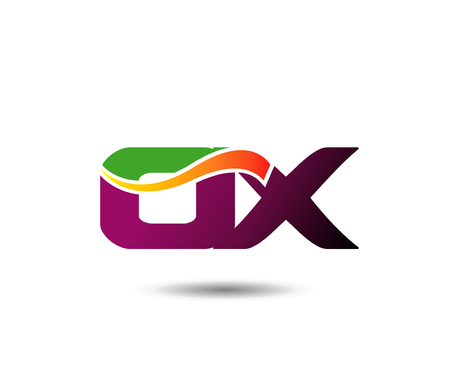 Abstract   design template letter OX. Illustration