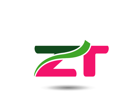 Alphabet Letter Z and R vector illustration