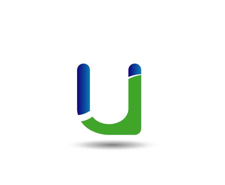 mound: Letter u design  icon Illustration