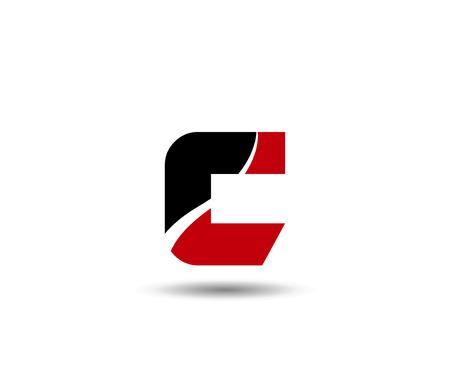 letter c: Letter C design template icon