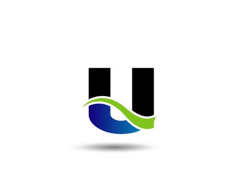 mound: Letter u icon  design template elements