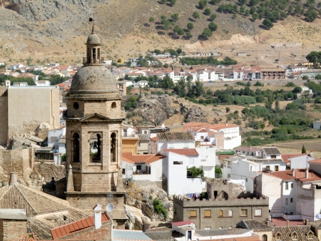 loja: Spanish church tower in Loja                            Stock Photo