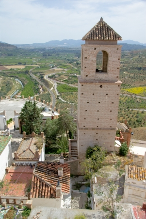 overhang: Tower of Guadalhorce, view from the top