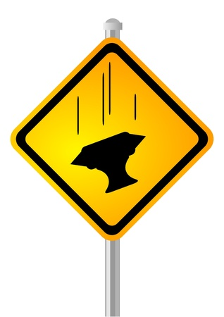 Bad day   Sign showing a falling anvil  humor  Stock Vector - 17526710