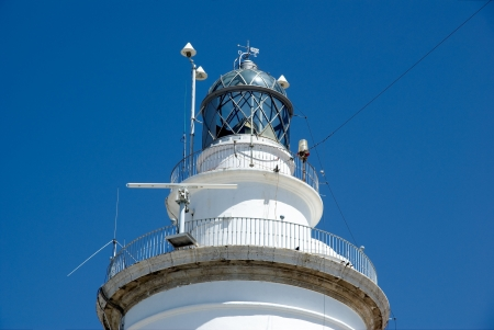 meteo: lighthouse of Malaga, detail of the top