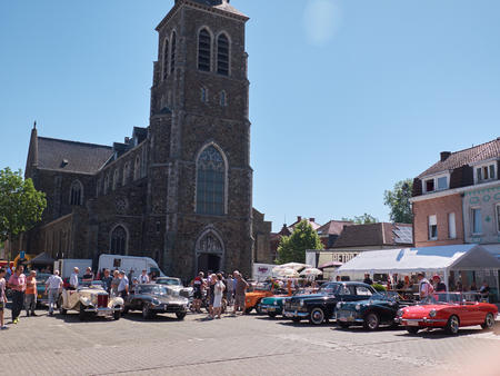 LEMBEEK, BELGIUM - MAY 27: Collectors meeting of classic cars and motorbikes. The exhibition Retromania , took place in Lembeek. Collectors from Belgium to show their old vehicles, may 27, 2017.