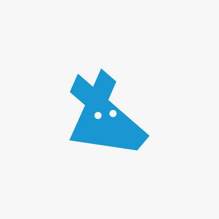 Kangaroo head illustration in white background 矢量图像