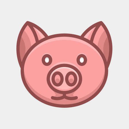 Cute Pig animal cartoon design Illustration