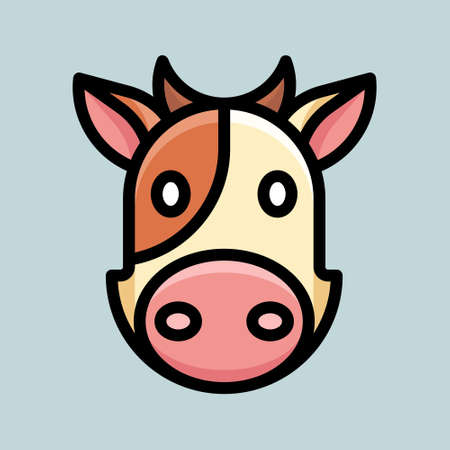 Cute cartoon design with cow animal character