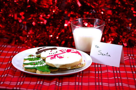 ginger bread man: Snow man, Christmas tree, Ginger bread, cookie with note for Santa