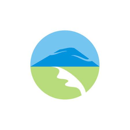 mountain logo vector - illustration