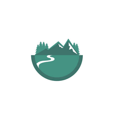 mountain design logo - vector - illustration