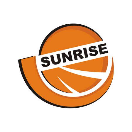 yellow circle design logo - sunrise  イラスト・ベクター素材