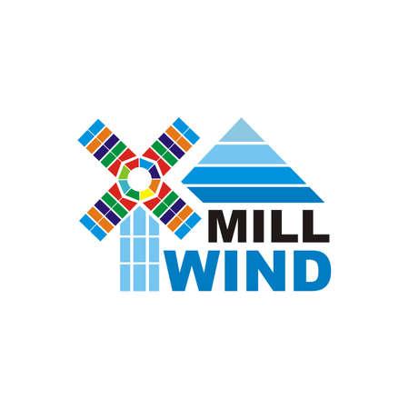 wind mill design logo vector