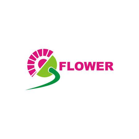 flower design logo - bio