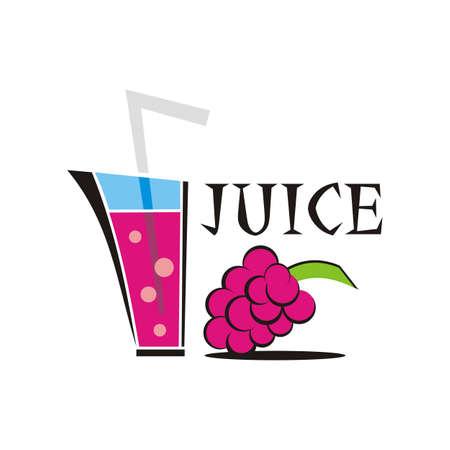 grape juice design logo vector - fruit