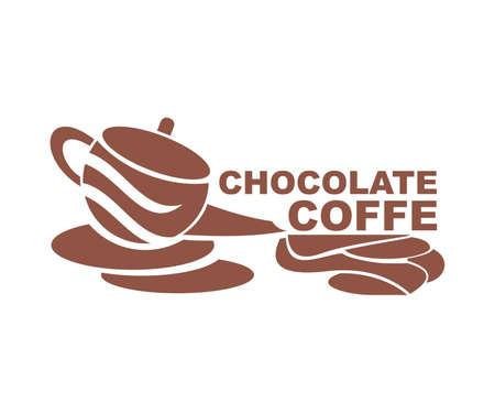 teapot design logo vector - coffe