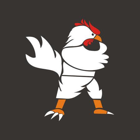 chicken design logo vector - Rooster Illustration