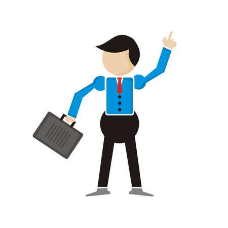 businessman illustration - vector - leader