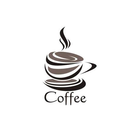 coffe cappucino design logo vector