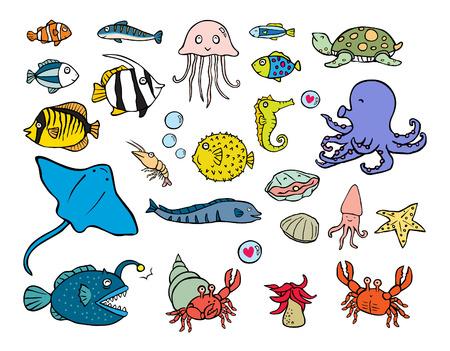 animali acquatici illustrazione vettoriale