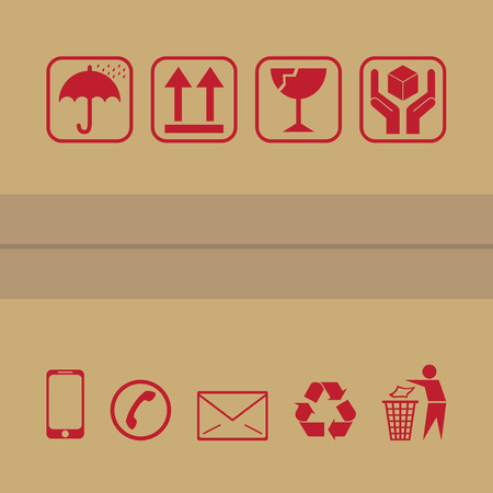 fragile: packaging icon vector for carton
