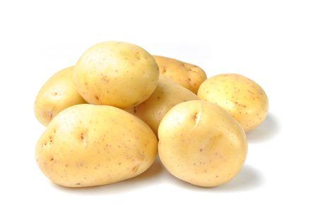 Potatos isolated on white background Stock Photo