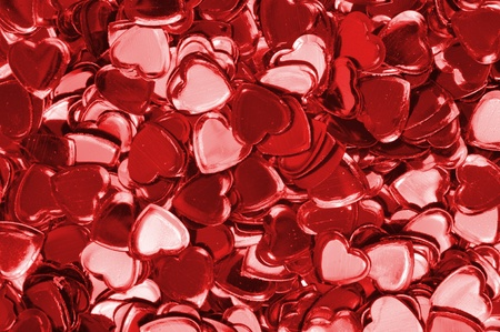 Background with red hearts confetti Stock Photo - 8568451