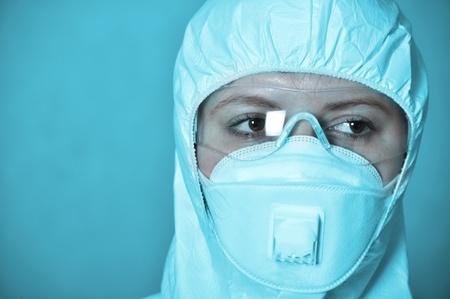 biochemist: Portrait of scientist in protective wear